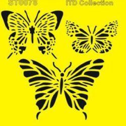 Lepke mintás stencil a Dekoráció Webáruházban