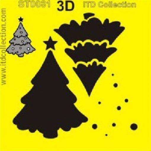 Fenyő mintás stencil a Dekoráció Webáruházban