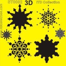 Hópehely mintás stencil a Dekoráció Webáruházban