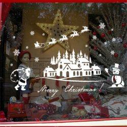 Karácsony éjjele, matrica ablakra, kirakatra a Dekoráció Webáruházban