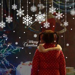 Hópelyhek, karácsonyi üvegdekor ablakra, kirakatra a Dekoráció Webáruházban