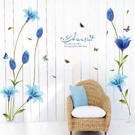 Kék Lily virágok