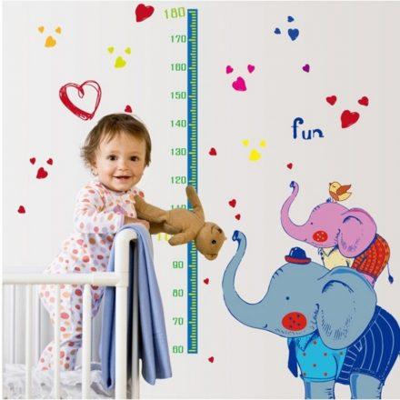 Elefántos magasságmérő matrica