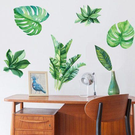 Trópusi levelek, falmatrica a Dekoráció webáruház falmatricái közül