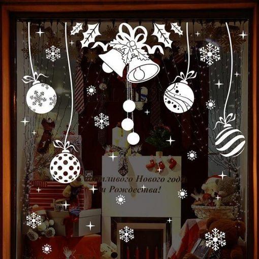 Táncoló díszek, karácsonyi kirakat- és ablakmatrica a Dekoráció Webáruházban