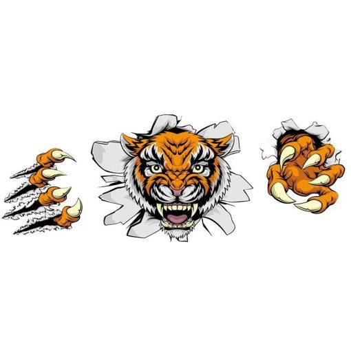 Karmoló tigris, faltörő falmatrica a Dekoráció Webáruházban