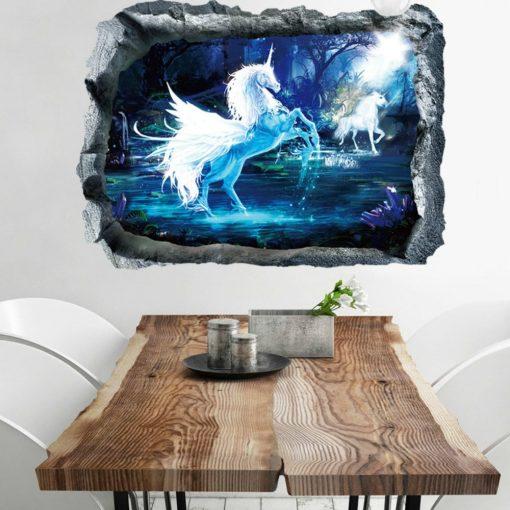 Unikornis, faltörő falmatrica a Dekoráció Webáruházban