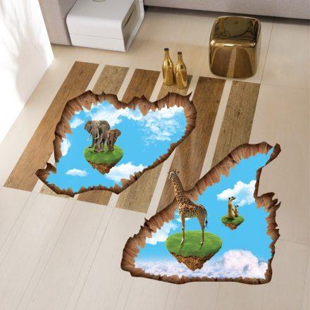 Afrika földje, 3D padlómatrica