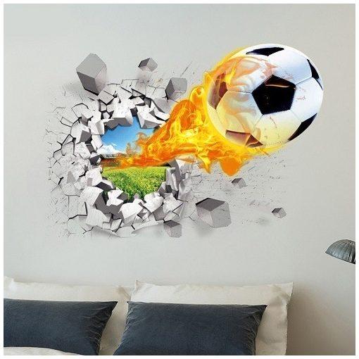 Faltörő focilabda falmatrica a Dekoráció Webáruház kínálatából