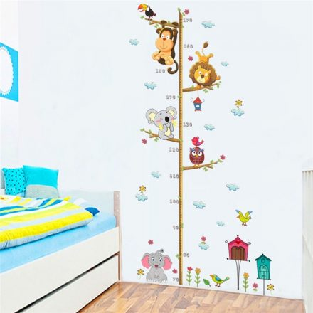 Tornázó állatok, magasságmérő babaszoba dekor