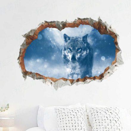 Jeges farkas, faltörő falmatrica a Dekoráció Webáruházban