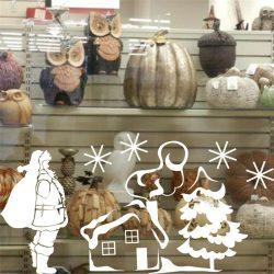 Érkező Mikulás, karácsonyi ablakmatrica a Dekoráció Webáruházban