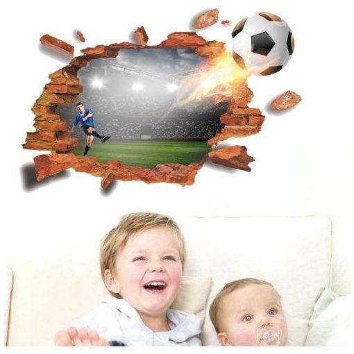 3D focilabda, faltörő falmatrica a Dekoráció Webáruházban