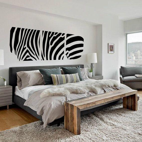 Zebra, 3 részes falimatrica 51Sz x15M cm