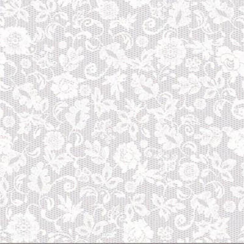 Fehér csipke öntapadós üvegfólia 45 cm széles