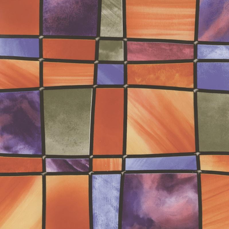 Barcelona sokszínű mintás sztatikus üvegfólia