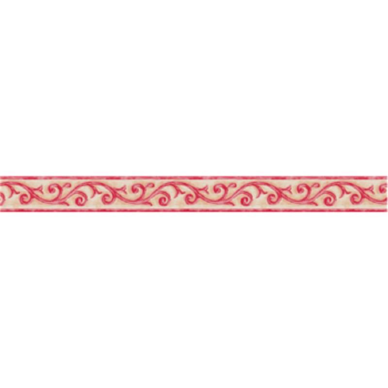 Rózsaszín indás mintás öntapadós bordűr