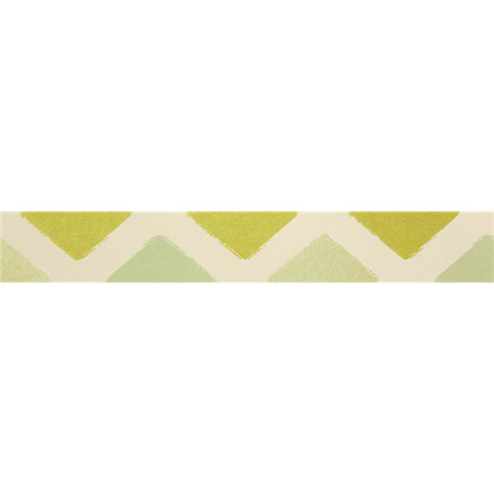 Sárga-fehér halvány bordűr tapéta