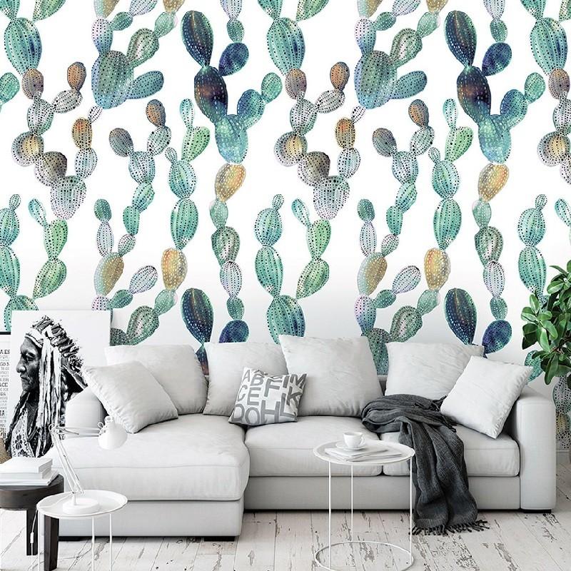 Kaktuszok papír alapú poszter tapéta 254 x 82 cm
