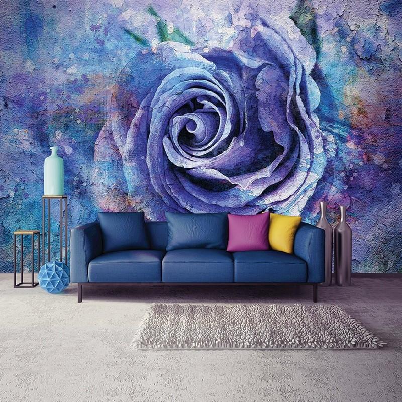 Lila rózsa, papír alapú poszter tapéta 254 x 82 cm