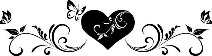 Szív pillangókkal, falmatrica 80Sz x 22M cm