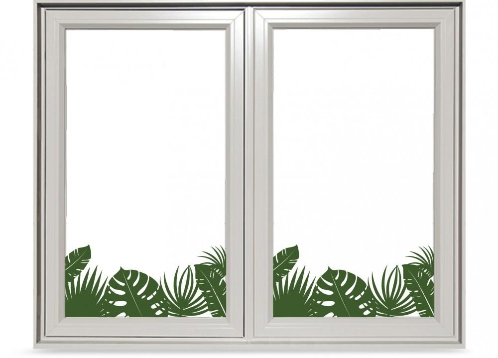Trópusi növények színes ablakmatrica 50Sz x 23M cm