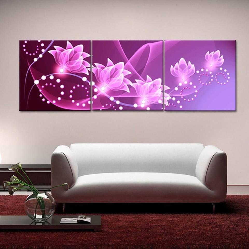 Virágok, 3 részes falikép, falmatrica szett 175Sz x 53M cm
