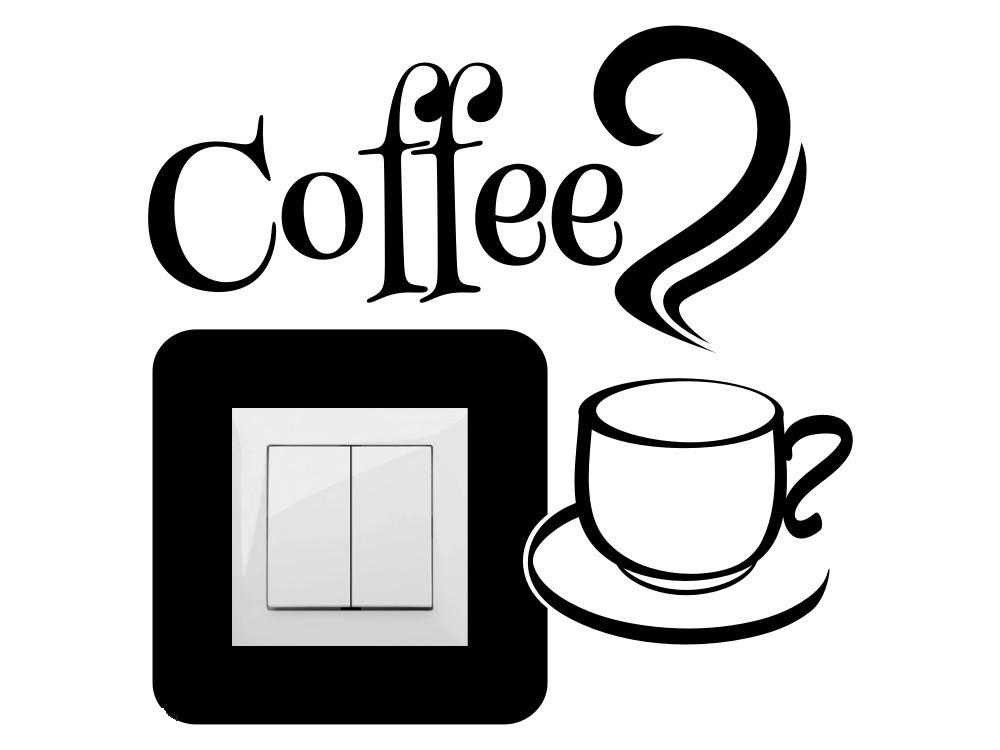 Coffee, villanykapcsoló matrica