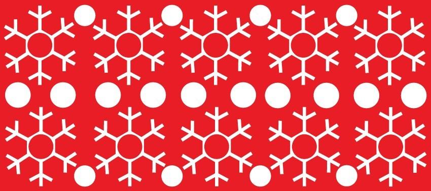 Hópelyhek 1, karácsonyi matrica kirakatra