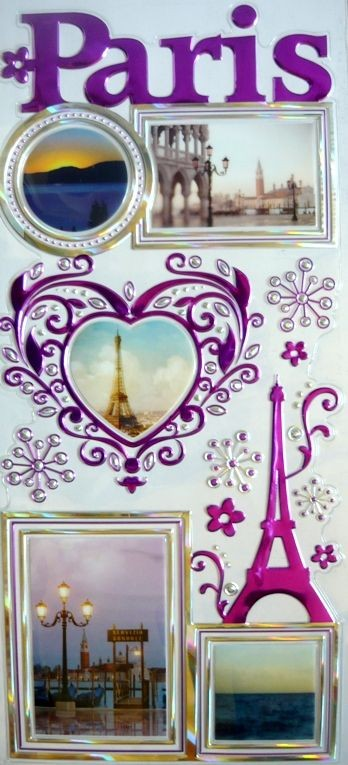 Párizs, kontúrmatrica fényképkeretekkel