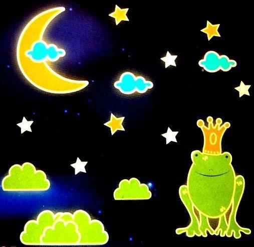 Békakirály, éjjel világító polifoam falmatrica