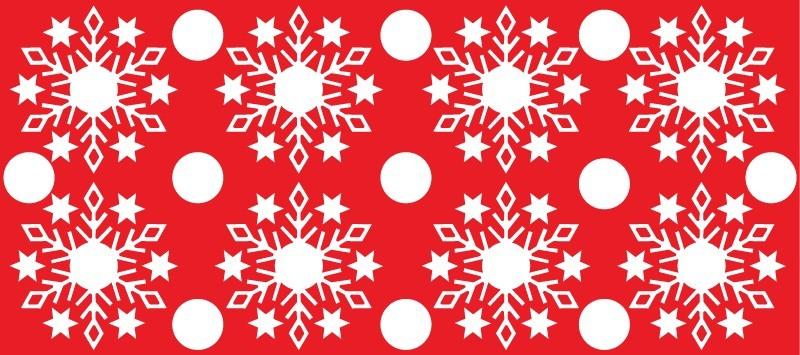 Hópelyhek 2, karácsonyi matrica kirakatra