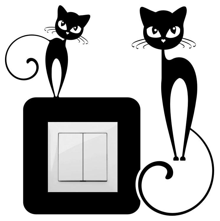 Cicák, villanykapcsoló matrica