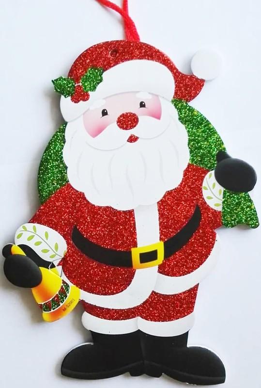 Mikulás, karácsonyi ajtódekor