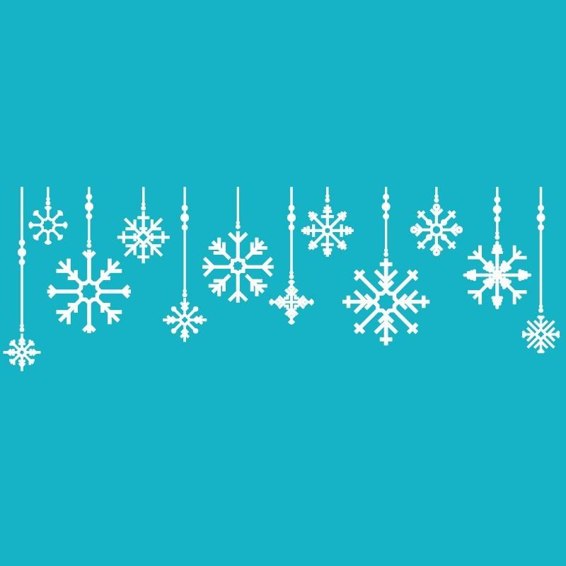 Karácsonyi minták, kirakatmatrica 140Sz x 46M cm
