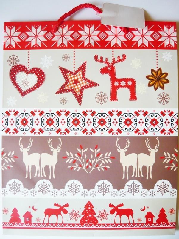 Szarvasok, karácsonyi ajándéktáska. L méret