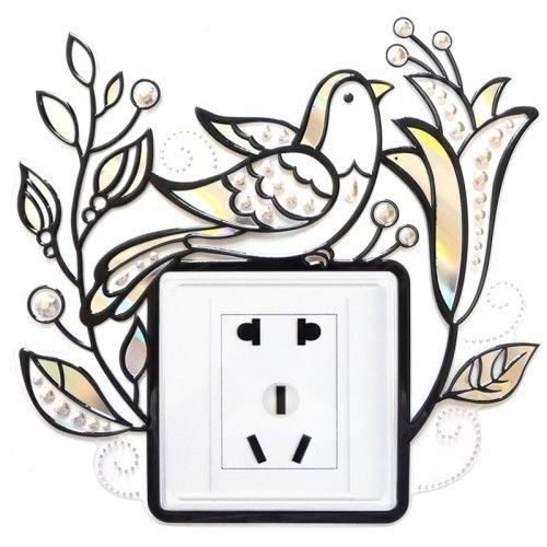 Madárkás, kontúrmatrica villanykapcsoló köré