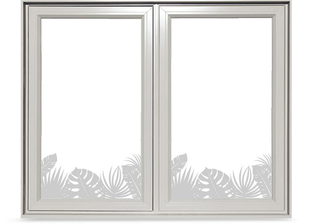 Trópusi növények ablakmatrica 50Sz x 23M cm