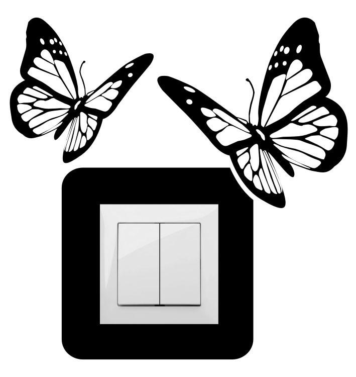 Pillangók, villanykapcsoló matrica