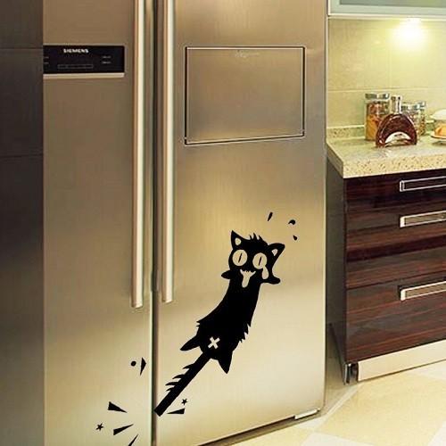 Pórul járt macska, hűtőmatrica 26Sz x 12M cm