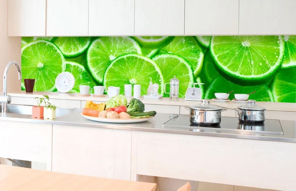 Lime szeletek, konyhai matrica hátfal, 350 cm