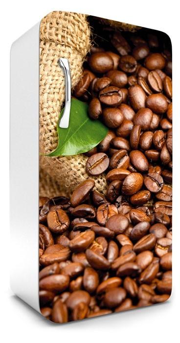 Kávészemek, hűtőszekrény matrica, 120 cm