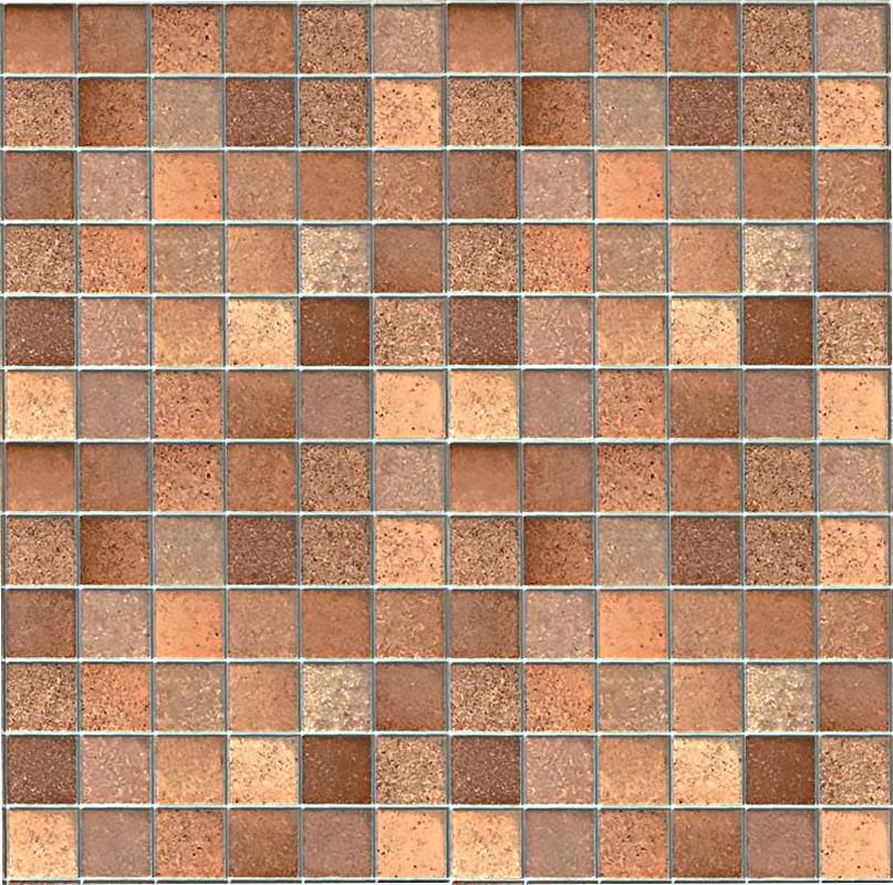 Barna mozaik - ezüst fuga mintás 3D öntapadós tapéta 90cm x 15m