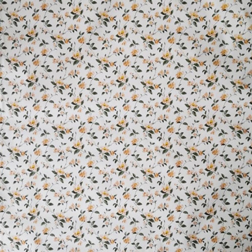Kis narancs virágmintás öntapadós tapéta