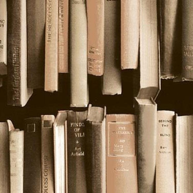 Vintage könyv mintás öntapadós tapéta