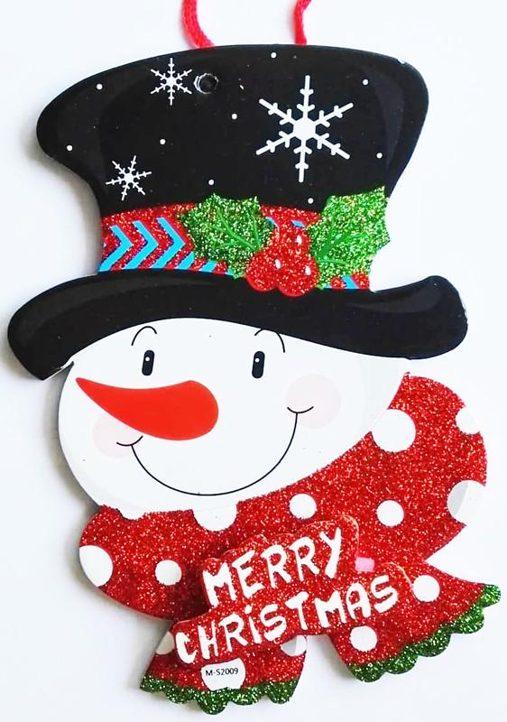 Hóember, karácsonyi ajtódekor