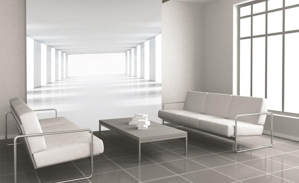Fehér folyosó, poszter tapéta 225*250 cm