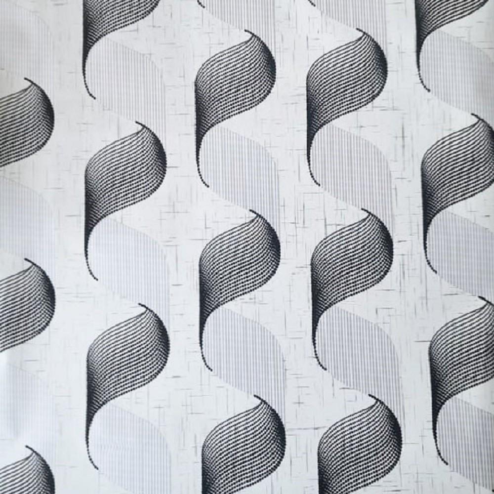 Absztrakt mintás, ezüst-fekete öntapadós tapéta