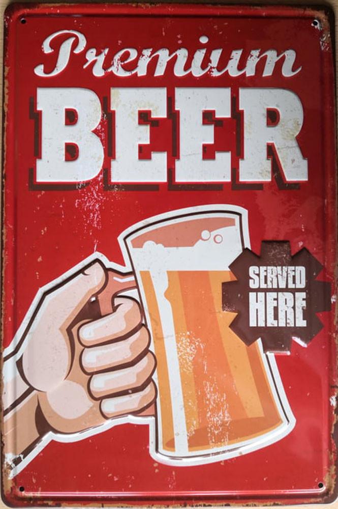Premium beer, retró fémtábla