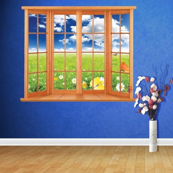 Virágos rét az ablakból 120Sz x 96M cm